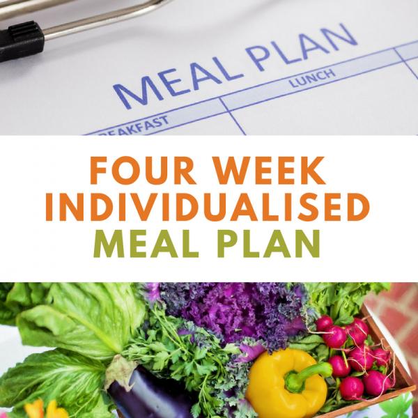 4 Week Individualised Meal Plan | Wellness Path